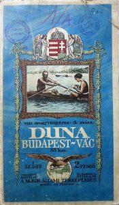 Budapest Vác vizi sporttérkép 1930-as évek