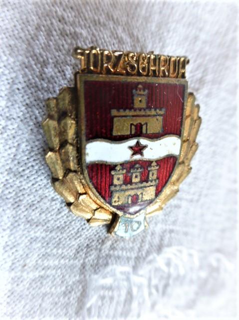 Budapest címer törzsgárda 10 jelvény