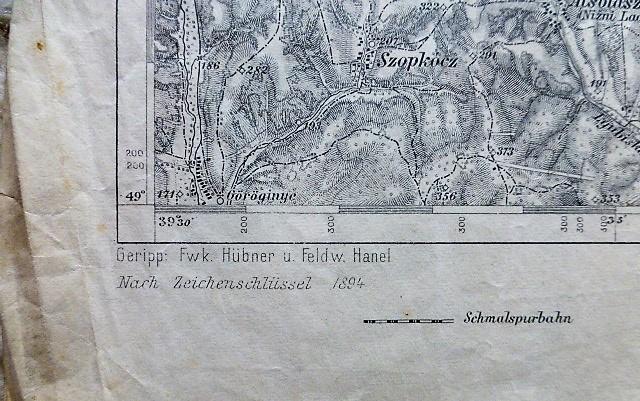 Felvidék Szlovákia Papháza Csukaháza katonai térkép 1914