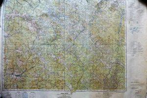 Havasmező Zabiev Erdély Felvidék katonai térkép 1944