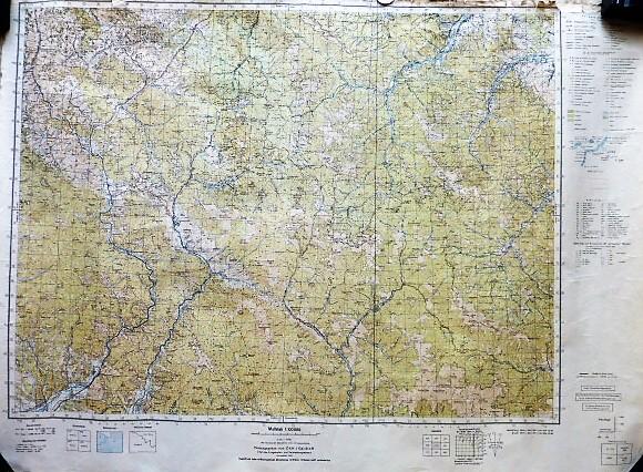 Kelecsény Ökörmező Herincse Kárpátalja Ukrajna katonai térkép 1944