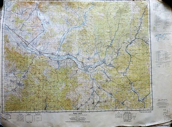 Máramarossziget környéke Erdély Felvidék katonai térkép 1944