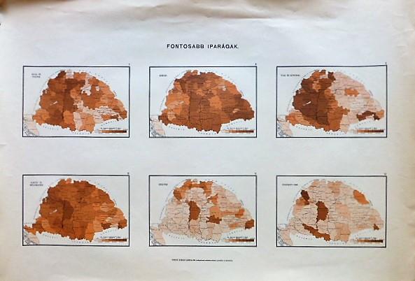 Magyarország Fontosabb Iparágak 1890 térkép