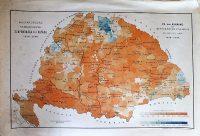 Magyarország Népességének Szaporodása és Fogyása 1890 térkép