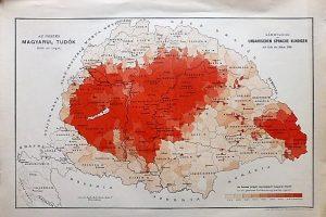 Magyarul Tudók 1890 Magyarország térkép