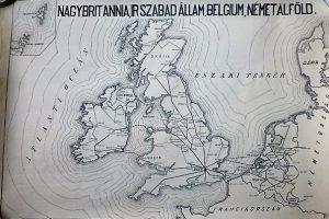 Nagy Britannia Írország Belgium Hollandia vasúti térkép 1949