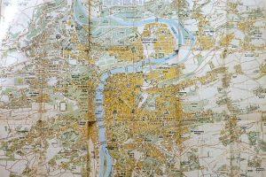 Prága térkép 1945