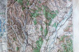 Szászrégen Erdély térkép 1943