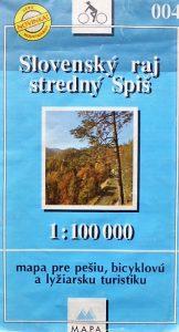 Szlovák Paradicsom térkép 1992