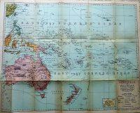 Ausztrália és Polinézia politikai térkép 1920-as évek
