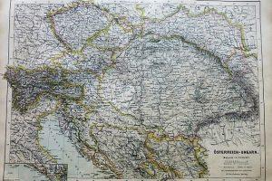 Ausztria Magyarország térkép 1892
