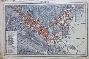 Brassó Erdély térkép 1896