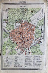 Debrecen térkép 1896