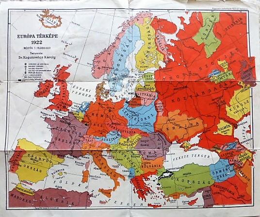 Europa Terkep 1922 Oregpenz