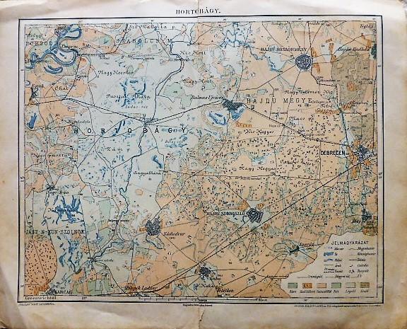 Hortobágy térkép 1896