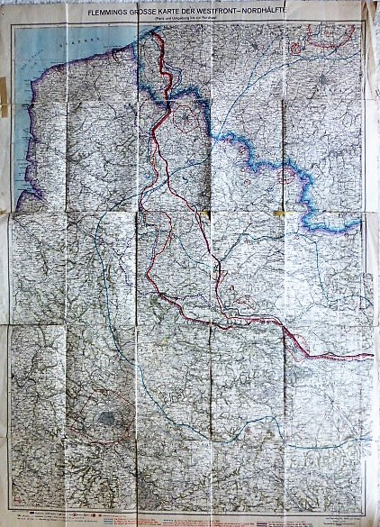 I. Világháború térkép ÉNY Európa