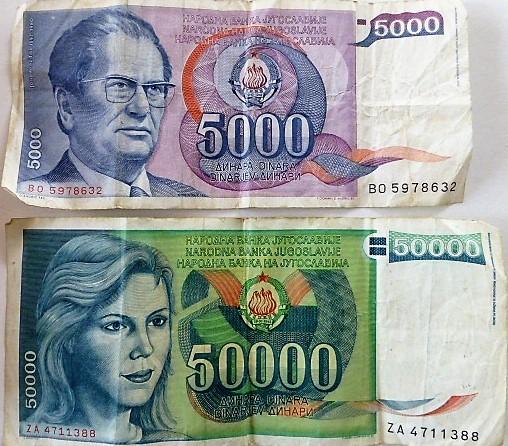 Jugoszláv dinár papírpénz