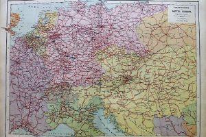 Közép Európa vasúti térkép 1892