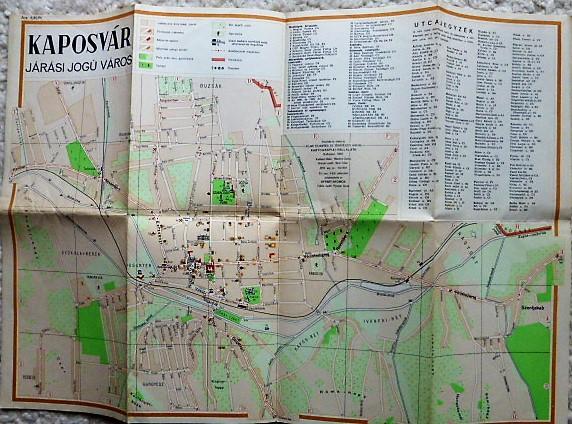Kaposvár térkép 1958