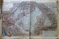 Magyarország térkép Kogutovicz-Litkei Világatlasz 1912-14