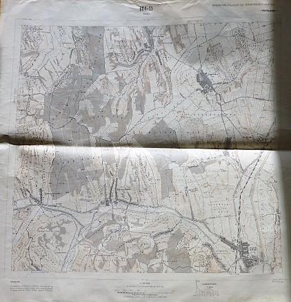 Sásd Baranyajenő környéke térkép 1967