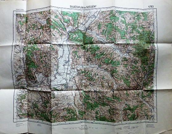 Salgótarján Szécsény Cserhát térkép 1933