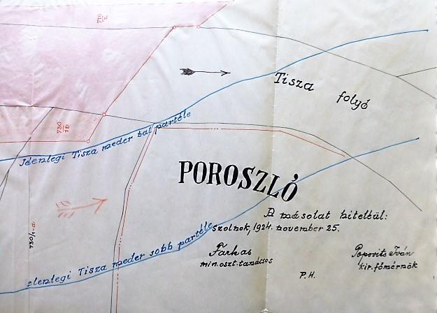 Tisza Poroszló környéke térkép 1924