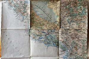 Albánia Montenegro Podgorica Skodra katonai térkép 1915