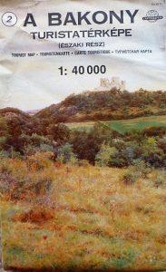Bakony észak turista térkép 1990