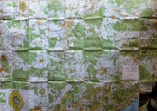 Bakony dél turista térkép 1990