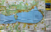 Balaton turista térkép 1994 kétoldalas 1:40.000