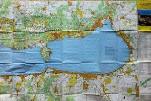 Balaton turista térkép 1994 kétoldalas
