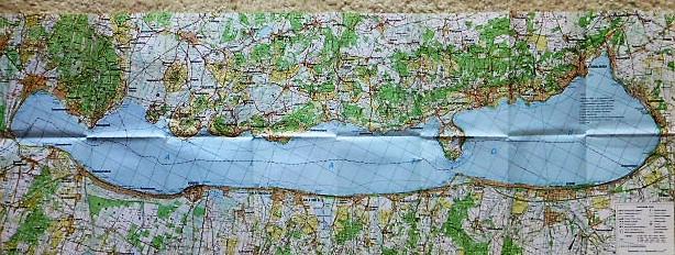 Balaton turista térkép 1994 várostérképekkel