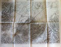 Brassó Kronstadt Erdély katonai térkép 1915