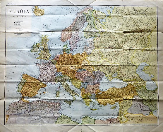 Európa térkép 1943