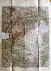 Magyarország környéke katonai térkép 1940