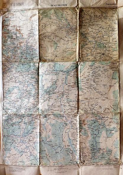 Prizren Gjakova Gjakove Gjakovice Koszovo Albánia térkép 1915