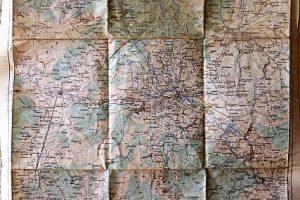 Skopje Skoplje környéke katonai térkép 1915