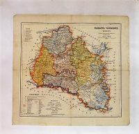 Baranya Vármegye Térkép régi 1927