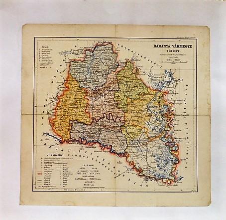 Baranya Vármegye Térkép 1927