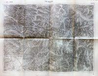 Csík Ménaság Erdély régi térkép 1915