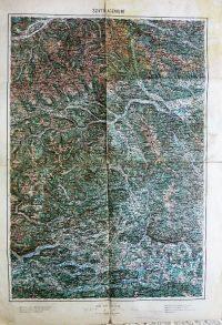 Murau Villach Klagenfurt Ausztria környéke térkép 1894