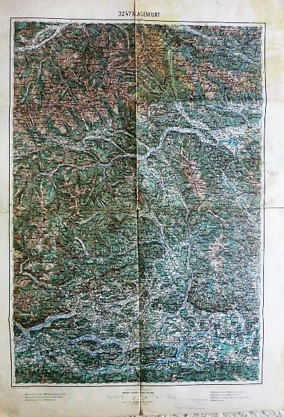 Murau Villach Klagenfurt környéke térkép 1894