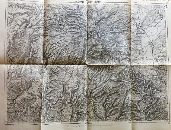 Oláhfalu Csik Szereda Erdély régi térkép