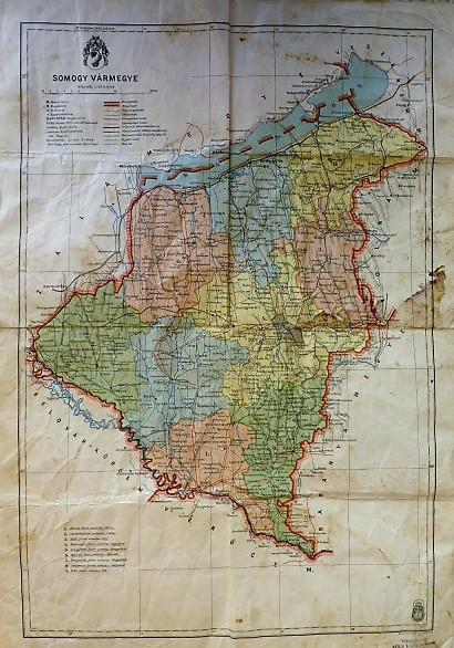 Somogy Vármegye térkép 1941
