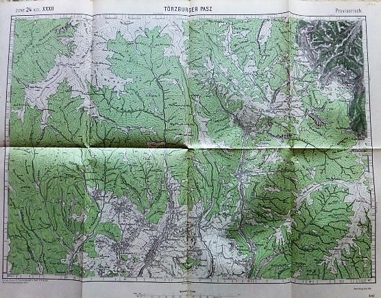 Törcsvári Szoros Erdély Törzburger Pasz térkép 1916