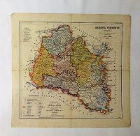 Baranya Vármegye Térkép 1927 kasírozva