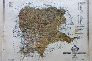 Beszterce-Naszód Vármegye Erdély 1893 térkép