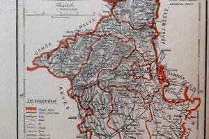 Borsod Megye közigazgatási Térkép régi