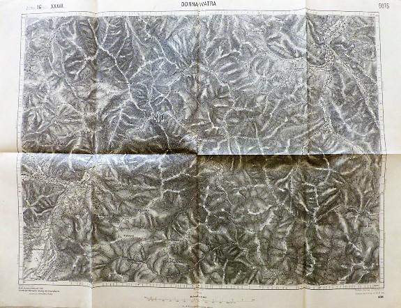 Dorna-Watra Dornavátra Románia régi térkép 1916